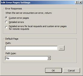 How to enable custom error pages locally